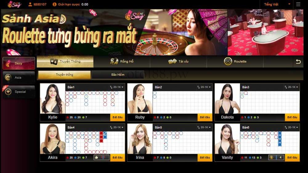 sexy gaming 2 live casino loto188